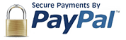 100% Secure Payments by Paypal. Accepted Cards: Visa, Mastercard, American Express, Discover and PayPal Account